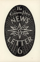 Artist Eric Ravilious: Design for The Curwen Press News-Letter, number 6