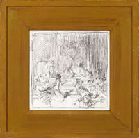 Artist Frank Brangwyn: Dance of Salome, framed