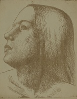 Artist John Luke: Head of a Girl in Profile