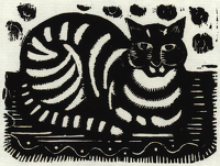 Artist Katherine Mary Fryer: The Cat (before 1940)