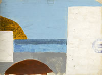 Artist Kenneth Rowntree: Greek landscape with postmark