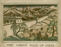 Artist Mary Adshead: The Great Wall of China, c. 1928, illustration for The House of History