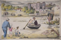 Artist Mary Adshead: The Coracle 1953, from The Little Boys and their Boats