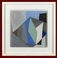 Artist Michael Canney: Untitled - blue, green, brown and black, circa 1960