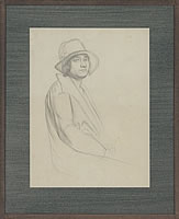 Artist Percy Horton: Portrait of Joan Jenner seated