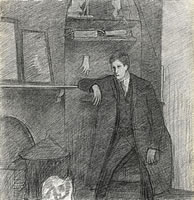 Artist Richard Carline: Self Portrait, January 26th, 1914