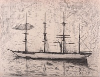 Artist Rudolph Sauter: Four masted Barque