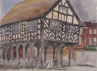 Artist Rudolph Sauter: The Market Hall at Ledbury