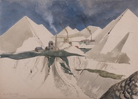 Artist Rudolph Sauter: British Pyramids and china claypits, 1948