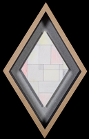 Artist Sir Thomas Monnington: Geometric design, lozenge format, late 1960s