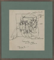 Artist Stanley Lewis: Analytical Sketch of Piero della Francescas Nativity, early 1920s