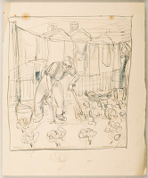 Artist Stanley Lewis: Domestic Bliss: Stanley and Min in the garden at 14 Dales Road Newport, 1939