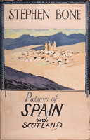 Artist Stephen Bone: Design for poster; Pictures of Spain and Scotland, 1920s