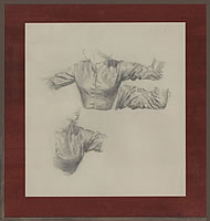 Artist Victor Hume Moody: Study of a Woman with Arms Raised
