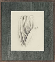 Artist Victor Hume Moody: Drapery study, possibly for The Judgement of Paris, circa 1936