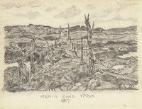 Artist William Hugh Duncan Arthur: Menin Road Ypres, 1917
