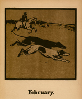 Artist William Nicholson: Coursing (February.), circa 1898