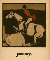Artist William Nicholson: Coursing (January.), circa 1898