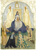 Artist Harold H J Beales: Adoration of the Magi, late 1920s