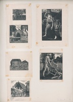 Artist Frederick Austin: Sheet of wood engravings, unique artists proofs
