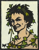 Artist Marion Wallace Dunlop: Bacchus, (cream ground), circa 1906