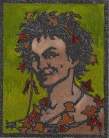 Artist Marion Wallace Dunlop: Bacchus, (dark green ground), circa 1906