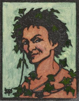 Artist Marion Wallace Dunlop: Bacchus (green ground), circa 1906