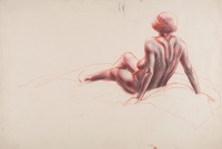 Artist Marion Adnams: Seated nude, three quarter rear view, circa 1930