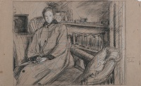 Artist Hubert Arthur Finney: Study of a Woman in an Interior