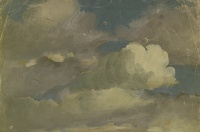 Artist Myles Tonks: Study of Cumulus clouds