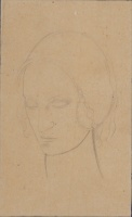 Artist Winifred Knights: Study of Mary for St Martins Altarpiece, Canterbury Cathedral, circa 1932