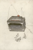 Artist Charles Mahoney: Study of a piano accordeon, possibly a study for The Pleasures of Life, circa 1928