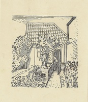 Artist Evelyn Dunbar: Design for Gardeners Choice, p 135 1937