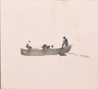 Artist Charles Cundall: Three men in a boat