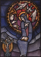 Artist Francis Spear: Design for Stained Glass Panel The Annuciation