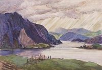 Artist Rudolph Sauter: Loch Etive and The Great Bonawe Quarries, 1954