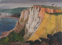 Artist Rudolph Sauter: The White Cliffs of Dover, sundown