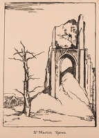 Artist Olive Mudie-Cooke: St. Martin, Ypres, circa 1920
