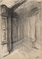 Artist Albert de Belleroche: An interior, possibly a corner of the studio Hampstead