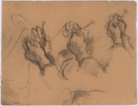 Artist Albert de Belleroche: Study of hands knitting
