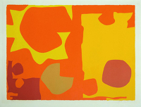 Artist Patrick Heron: Six in Light Orange with Red in Yellow (1970)