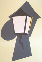 Artist Patrick Joseph Caulfield: Coach Lamp, 1995
