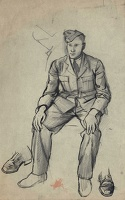 Artist Alan Sorrell: Portrait of an RAF Officer