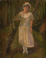 Artist Barnett Freedman: Woman in a glade, mid 1920s