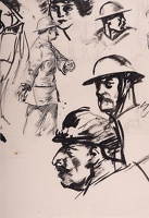 Artist Alfred Kingsley Lawrence: Study of WW1 soldiers, circa 1918