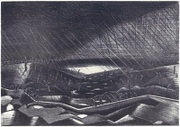 Artist Paul Nash: Rain, Lake Zillebeke, 1918