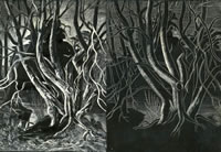 Artist Arthur Kemp: Trees by a Riverbed