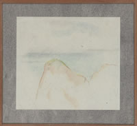 Artist Winifred Knights: Study of cliff tops