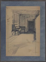 Artist Charles Mahoney: Interior, student digs, mid 1920s