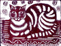 Artist Katherine May Fryer: The Cat (before 1940)